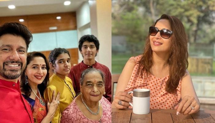 माधुरी दीक्षित ने दोनों बेटों संग शेयर कीं तब और अब की खूबसूरत फोटो, लिखा- 'हमेशा मेरे बच्चे रहेंगे'