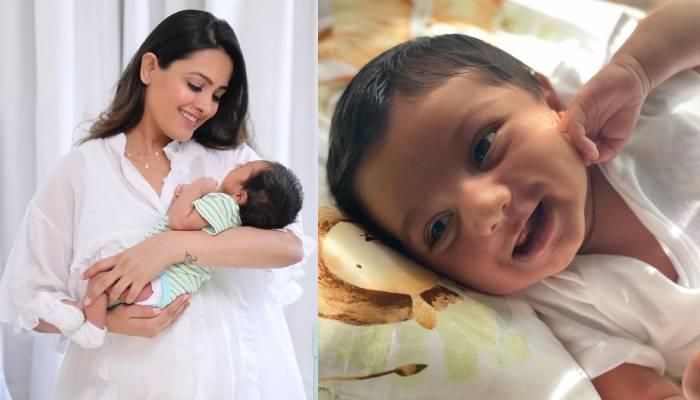 अनिता हस्सनंदनी ने बेटे आरव की खींची तस्वीर, तो बेबी बॉय ने दिया मजेदार रिएक्शन
