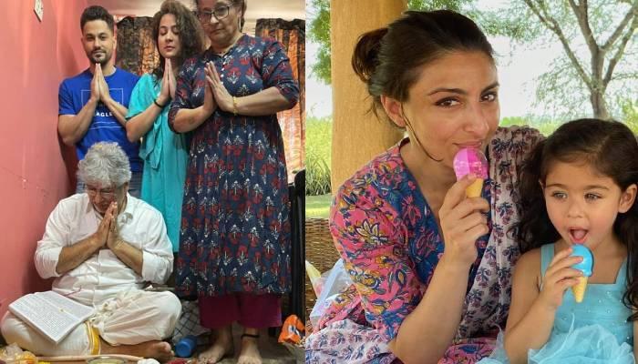 कुणाल खेमू ने पूजा करते हुए फैमिली संग शेयर कीं फोटोज, तो यूजर्स ने पूछा 'कहा हैं बीवी और बेटी'