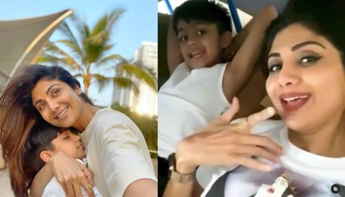 शिल्पा शेट्टी ने वियान के साथ ली सेल्फी, देखें मां-बेटे की प्यार भरी फोटोज