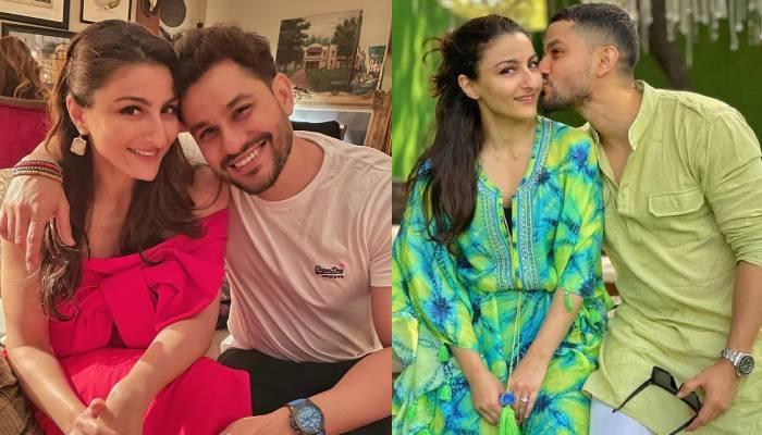 सोहा अली खान ने पति कुणाल खेमू संग शेयर की क्यूट फोटो, पूछा- 'अब शैतान किसके कंधे पर है'