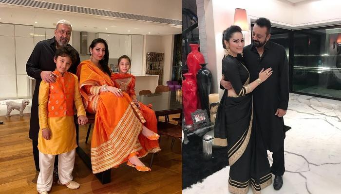 संजय दत्त की पत्नी मान्यता दत्त ने शेयर की फैमिली फोटो, नाइट वियर में पोज देते दिखीं मां-बेटी