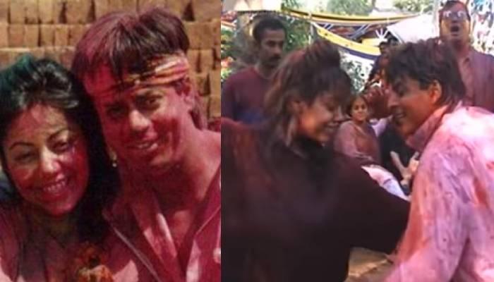 शाहरुख खान ने 20 साल पहले वाइफ गौरी संग ऐसे मनाई थी होली, रंग में सराबोर कपल करता दिखा डांस