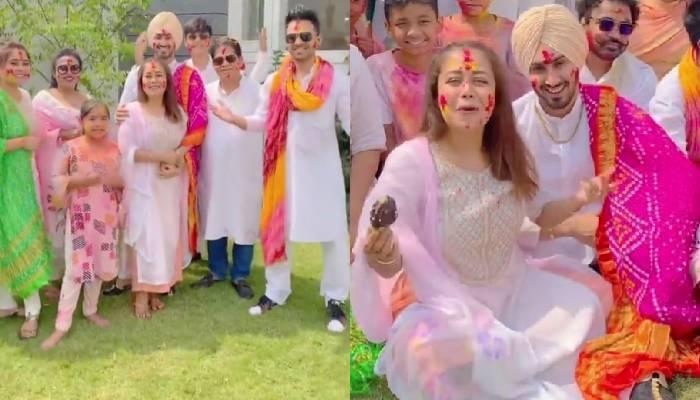 नेहा कक्कड़ ने पति रोहनप्रीत सिंह संग शादी के बाद मनाई पहली होली, देखें सेलिब्रेशन का वीडियो