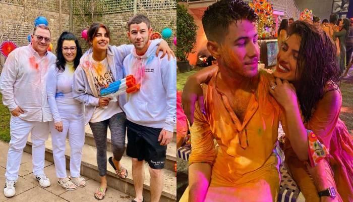 प्रियंका चोपड़ा ने लंदन में पति निक जोनस के साथ सेलिब्रेट की होली, सास-ससुर भी आए नजर