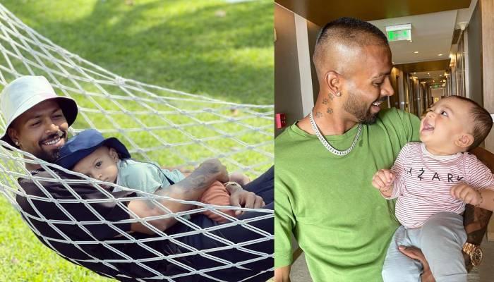 हार्दिक पांड्या ने बेटे अगस्त्य संग शेयर कीं क्यूट तस्वीरें, झूला झूलते दिखे पिता-पुत्र