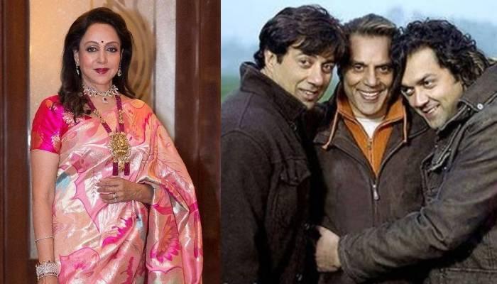 हेमा मालिनी का सौतेले बेटे सनी और बाॅबी देओल संग कैसा है रिश्ता? खुद एक्ट्रेस ने कही थी ये बात