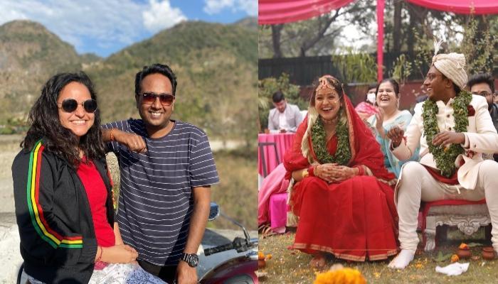 इस दूल्हा-दुल्हन ने रचाई ईको फ्रेंडली शादी, जयमाला पर एक-दूसरे को पहनाई तुलसी के पत्तों की माला