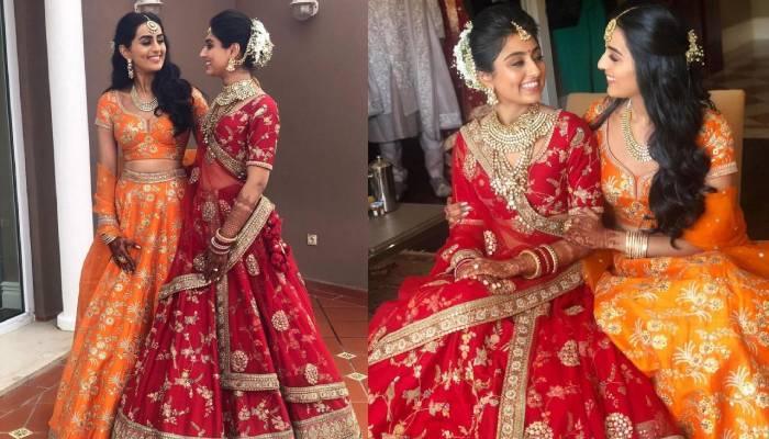 सब्यसाची की इस दुल्हन और उसकी बहन ने शादी में पहना एक जैसा लहंगा, देखें खूबसूरत तस्वीरें