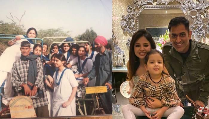 साक्षी धोनी ने शेयर कीं स्कूल के दिनों की फोटोज, बेटी जीवा की तरह लग रहीं MS धोनी की वाइफ