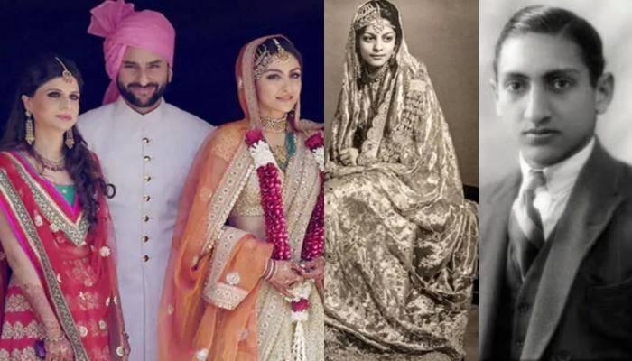 सैफ अली खान के दादा-दादी की शादी की अनदेखी तस्वीर आई सामने, रॉयल लुक में दिख रहा कपल
