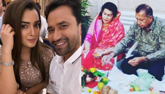 भोजपुरी एक्ट्रेस आम्रपाली दुबे ने अपने मम्मी-पापा को विश की मैरिज एनिवर्सरी, निरहुआ ने भी दी बधाई