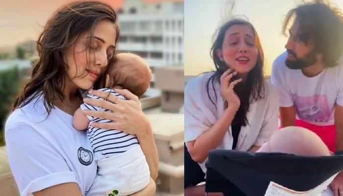 जानकी पारेख ने अपने तीन महीने के बेटे को बताया कोविड के बारे में, बेबी सूफी ने दिया ऐसा रिएक्शन