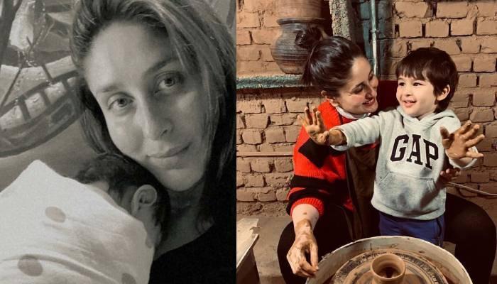 करीना कपूर ने दिखाया अपने दूसरे बेटे का चेहरा, तैमूर की गोद में दिखे छोटे नवाब