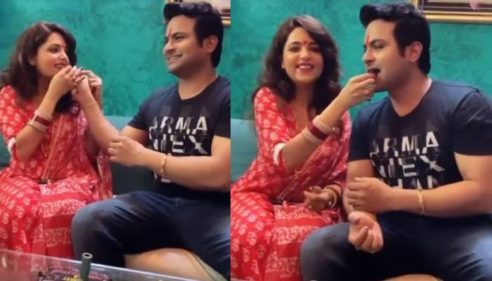 सुगंधा मिश्रा के पति संकेत भोसले ने अपने बर्थडे पर काटा स्पेशल केक, दिखा दोनों का अटूट प्यार
