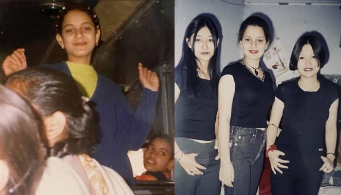 कंगना रनौत ने शेयर की स्कूल के दिनों की फोटो, अपने गुरूजी और सहेलियों के साथ आ रहीं नजर