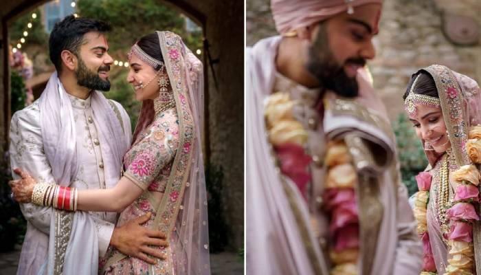 अनुष्का शर्मा-विराट कोहली की शादी को पूरे हुए दो साल, प्यार भरे मैसेज के साथ किया एक-दूसरे को विश
