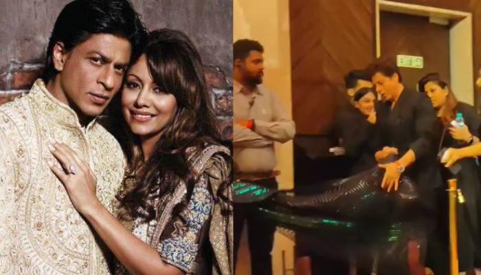शाहरुख खान कुछ इस अंदाज में संभालते दिखे गौरी का गाउन, वीडियो देख फैंस ने कहा- आप ही हैं असली किंग