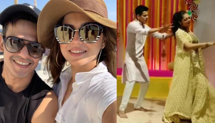 दृष्टि धामी ने ननद के संगीत सेरेमनी में किया पति नीरज खेमका संग जमकर डांस, वीडियो ने मचाया धमाल