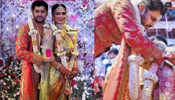 साउथ एक्टर नितिन ने गर्लफ्रेंड शालिनी कंडूकुरी संग लिए सात फेरे, यहां देखें शादी की अनदेखी फोटोज