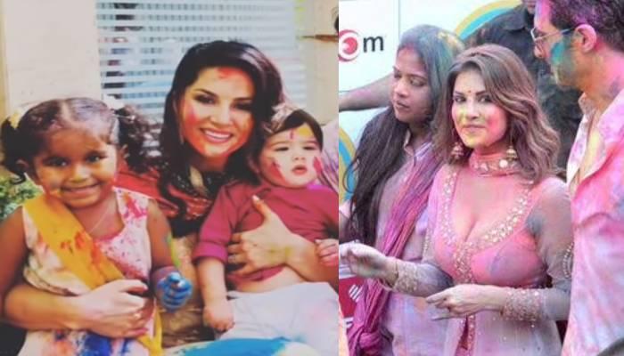 सनी लियोनी ने बेटी निशा कौर वेबर संग ऐसे खेली होली, देखिए एक्ट्रेस की लाडली की पिचकारी वाली वीडियो