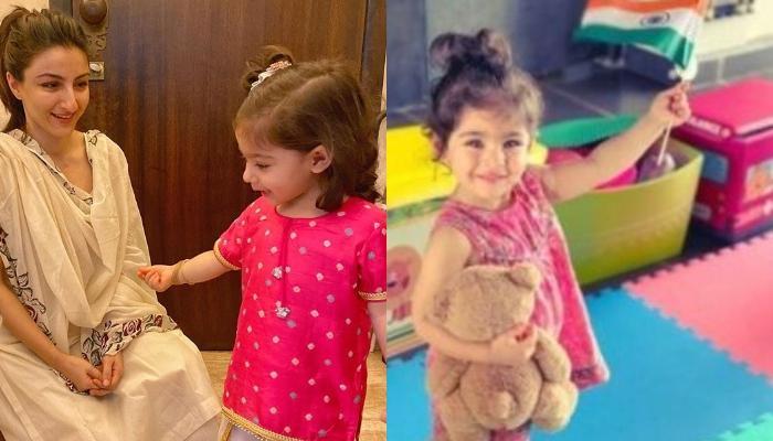 सोहा अली खान की बेटी इनाया की ये तस्वीर हुई वायरल, देखिए कैसे गुब्बारों के लिए करती दिखी मेहनत
