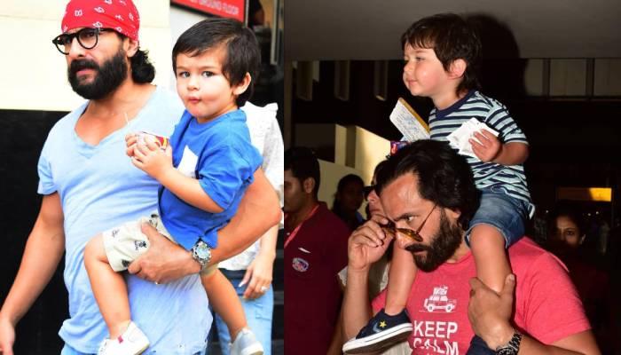 तैमूर अली खान को पैर में चोट लगने के बाद ऐसे संभालते दिखे पापा सैफ अली खान, तस्वीरें वायरल