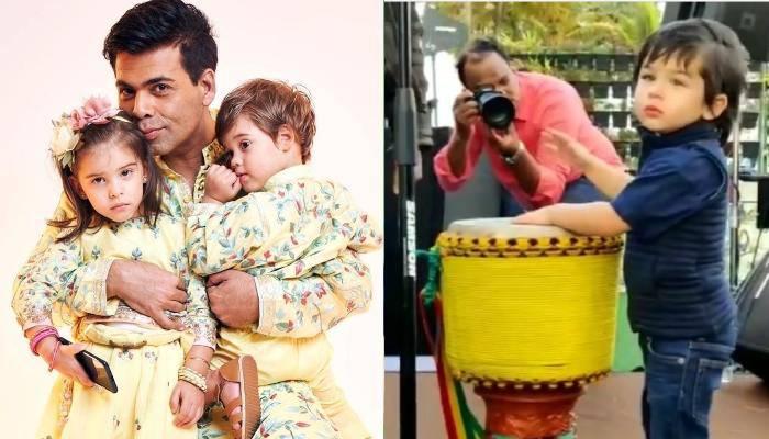 करण जौहर के बच्चों की बर्थडे पार्टी में तैमूर अली खान का दिखा अलग अंदाज, फुल मस्ती में बजाया ड्रम