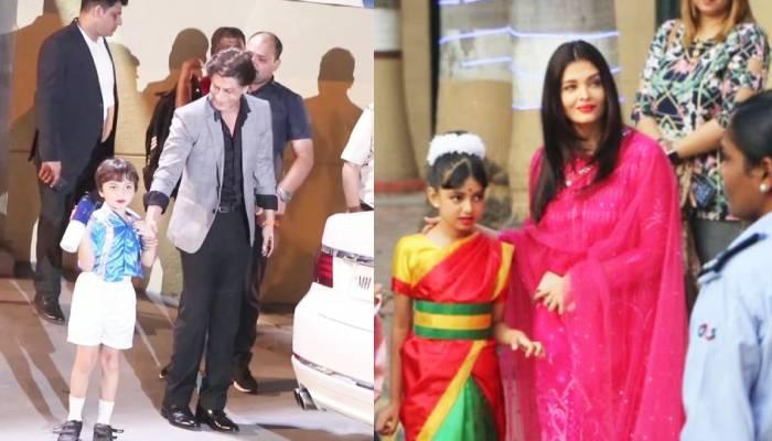 स्कूल फंक्शन के लिए आराध्या बच्चन ने पहनी साड़ी तो अबराम खान ने लगाई रेड लिपस्टिक, यहां देखिए वीडियो