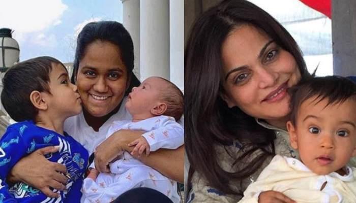 अर्पिता खान और आयुष शर्मा की बेटी आयत मौसी अलवीरा की गोद में कुछ ऐसे आईं नजर, फोटो हुई वायरल