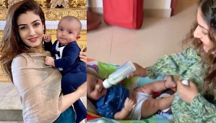 बॉलीवुड एक्ट्रेस रवीना टंडन को पोते रूद्र की आई याद, शेयर किया ये प्यार भरा वीडियो