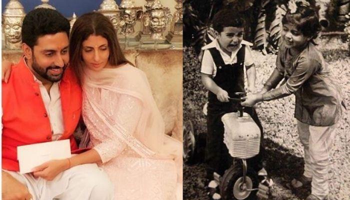 बहन श्वेता बच्चन के साथ बहुत क्यूट लग रहे हैं अभिषेक बच्चन, तस्वीर देख हो जाएंगे कायल
