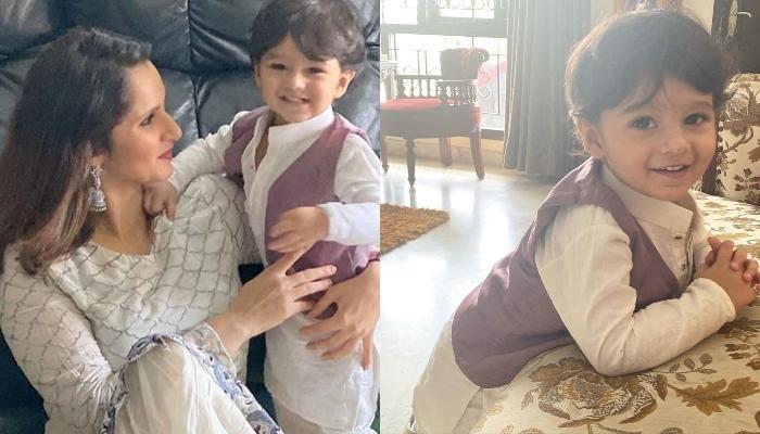 सानिया मिर्जा के बेटे इजहान अपनी नानी के साथ कर रहे हैं मस्ती, देखें फोटो