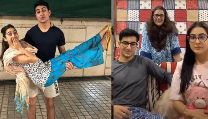 एक्ट्रेस सारा अली खान ने खोली मां अमृता सिंह और भाई इब्राहिम की पोल, देखें वीडियो