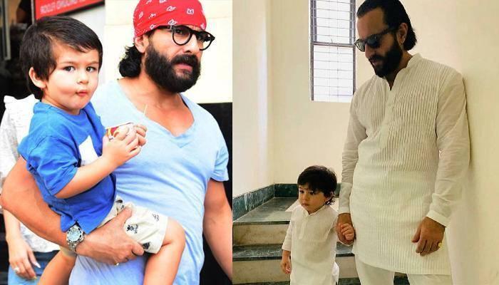 इंटरव्यू के बीच तैमूर अली खान को पुचकारते नजर आए सैफ अली खान, यहां देखिए क्यूट तस्वीरें